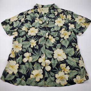 Tommy Bahama Silk Button Up Hawaiian Shirt Sz L